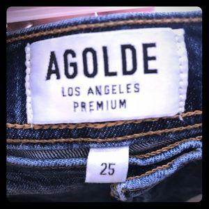 AGOLDE Ruby Skinny Med Wash sz 25 Designer Denim!